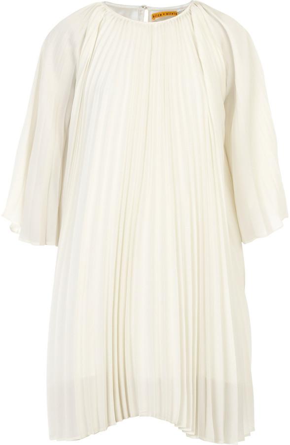 Alice + Olivia Pleated Goddess dress
