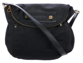 Marc by Marc Jacobs Leather-Trimmed Flap Saddle Bag