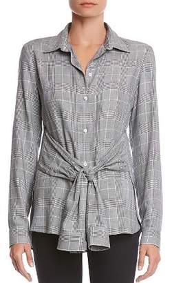 Bailey 44 Hold Me Tight Plaid Tie-Front Shirt