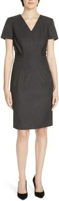 BOSS 'Deshina' Short Sleeve Wool Sheath Dress