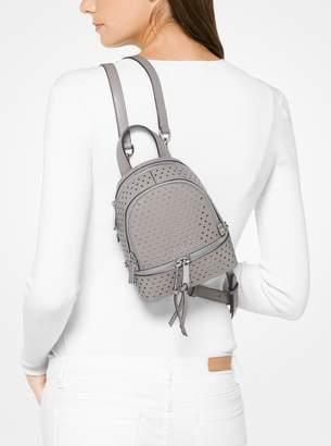 MICHAEL Michael Kors Rhea Mini Perforated Leather Backpack