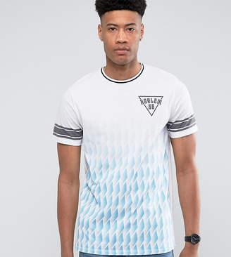 Jacamo TALL T-Shirt With Fade Geo Print In Blue