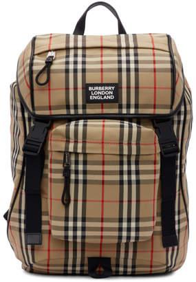 Burberry Beige Nylon Rocky Backpack