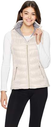Calvin Klein Women's Quilted Vest with Smoked Sides