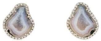 Kimberly McDonald 18K Geode & Diamond Clip-On Earrings