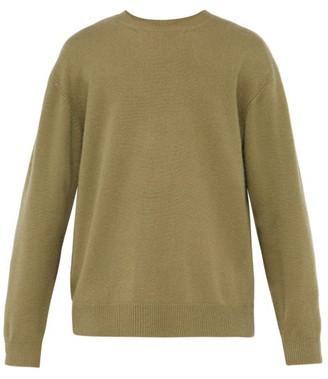 Raey Sloppy Crew Neck Cashmere Sweater - Mens - Khaki