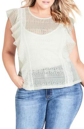 City Chic Dreamy Lace Top