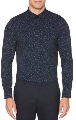 Perry Ellis Slim-Fit Printed Button-Down Shirt