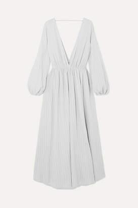 Kalita Aphrodite Cotton-gauze Maxi Dress - Gray