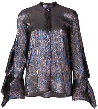 Petar Petrov Evan metallic shirt