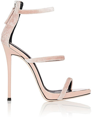 Giuseppe Zanotti Women's Coline Velvet Sandals $845 thestylecure.com