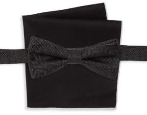 Burma Bibas Two-Piece Silk Dot Bow Tie & Square Set