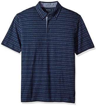 Nautica Men's Standard Classic Fit Striped Polo Shirt