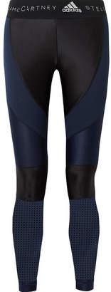 adidas by Stella McCartney Mesh-paneled Climalite Stretch Leggings - Black