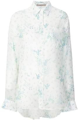 Ermanno Scervino sheer floral shirt