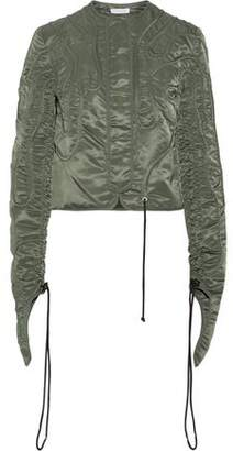 J.W.Anderson Corded Drawstring Satin Bomber Jacket
