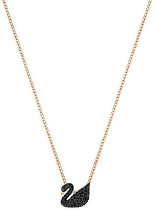 Swarovski 18K Rose Goldplated Crystal Small Swan Pendant Necklace $79 thestylecure.com