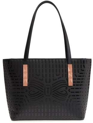 Ted Baker Breanna Perforated Bow Leather Shopper