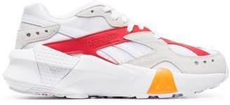Reebok white Aztrek chunky low-top leather sneakers