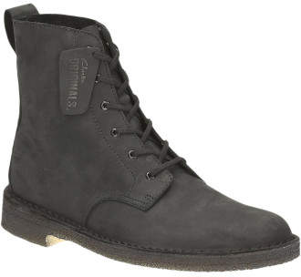 Clarks Desert Marli Waxy Leather High Boot W/ Crepe Sole