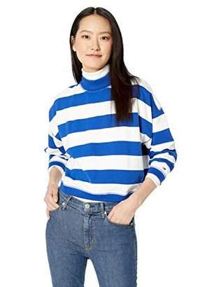 Tommy Hilfiger Tommy Jeans Women's Sweatshirt Bold Stripe with Mock Neck