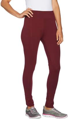 Denim & Co. Active Petite Pull-On Knit Ankle Leggings with Tulip Hem