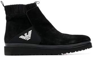 Emporio Armani knitted lining ankle boots