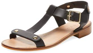 Firth Women's Sinto Leather T-Strap Flat