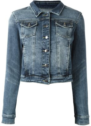 Twin-Set cropped denim jacket $145.21 thestylecure.com