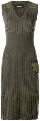 Neil Barrett knitted V-neck dress
