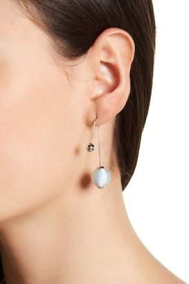 Rebecca Minkoff Contrast Sphere Threader Earrings