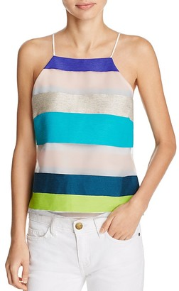 MILLY Striped Camisole with Draped Back $325 thestylecure.com