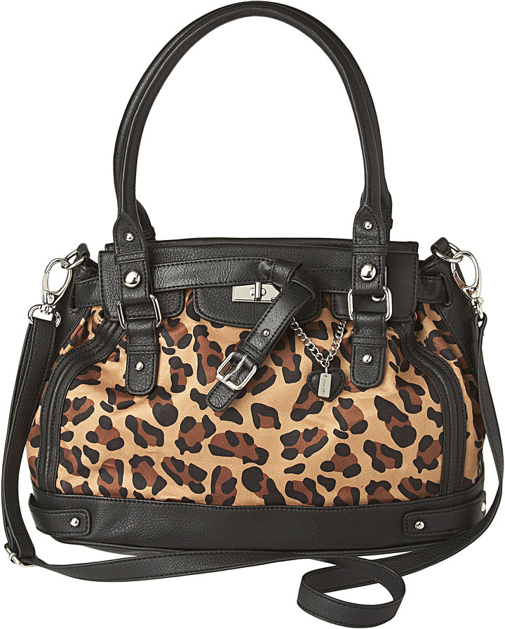 Plain Jane, Leopard Satchel