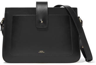 A.P.C. Albane Leather Shoulder Bag - Black