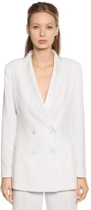 Alberta Ferretti Double Breasted Enver Satin Blazer