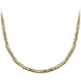 Orlando Orlandini Gold Plate Rubber Necklace