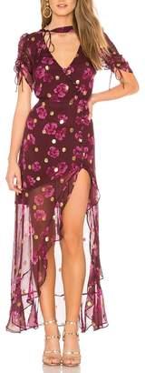 For Love & Lemons Stella Maxi Dress