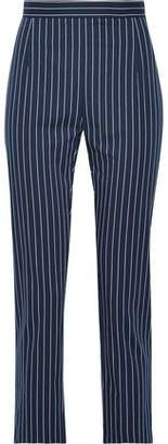 Pierre Balmain Striped Cotton-Blend Tapered Pants