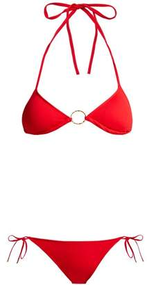 Melissa Odabash Miami Triangle Bikini - Womens - Red