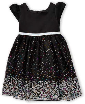 Princess Faith (Toddler Girls) Sequin Tulle A-Line Dress