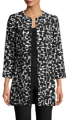 Kasper SUITS Abstract Printed Topper