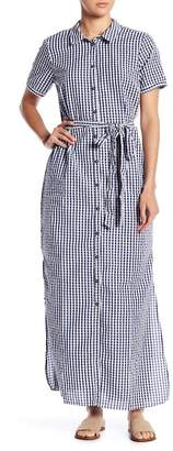 Sanctuary Blue Dawn Shirt Maxi Dress