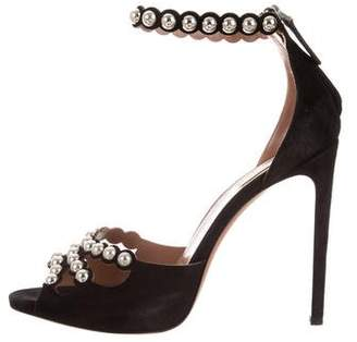 Alaia Peep-Toe Studded Sandals