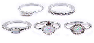 Arizona Womens Clear Stackable Ring