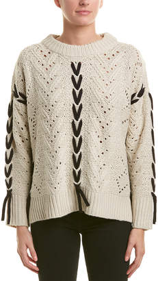 RD Style Lace-Up Sweater