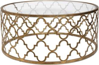 """Uttermost 25015 Quatrefoil - 42"""" Coffee Table, Finish with Clear Tempered Glass"""