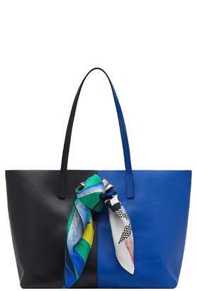 Versace Clash Bicolor Leather Tote