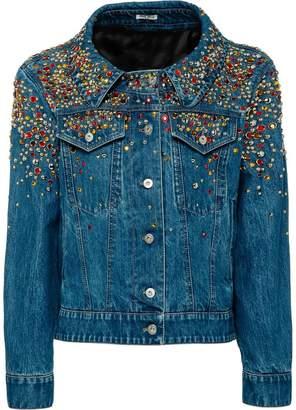 Miu Miu Washed denim jacket