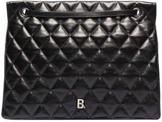Balenciaga Large B Shoulder Bag in Black | FWRD