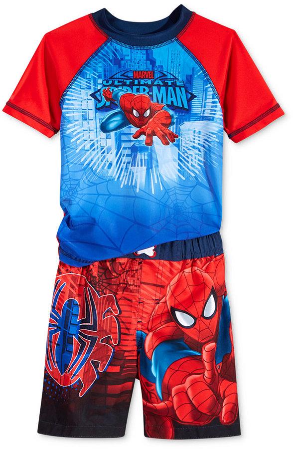 Spider-Man Toddler Boys' 2-Piece Ultimate Spider-Man Swim Set
